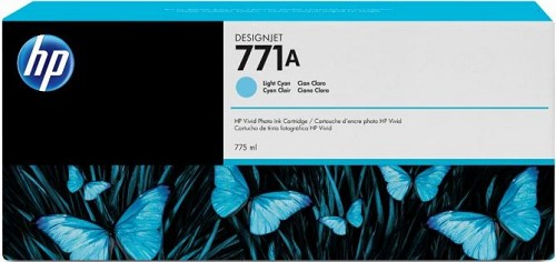 HP-CE042A<br>#771 Light Cyan Ink 775 mL for HP Z6200/Z68X0